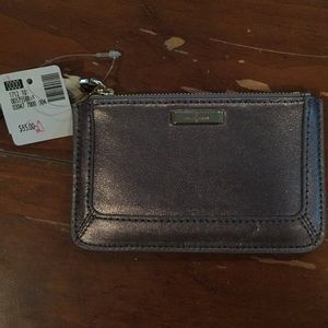 Cole Haan leather small card wallet wristlet.